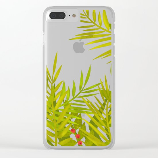 The leaves and berries. Clear iPhone Case