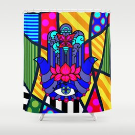 Lucky Hand of Fate SQuare Shower Curtain