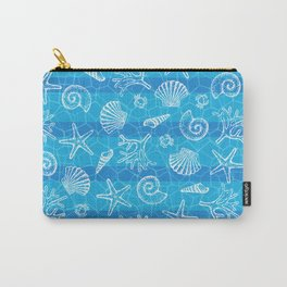 Crystal Blue Sea Carry-All Pouch