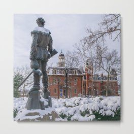 West Virginia Winter Morgantown Campus Snow Winter WV Metal Print