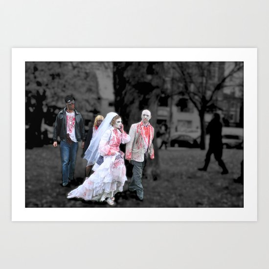 vampire wedding Art Print