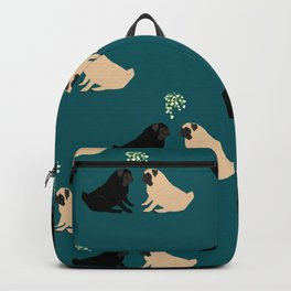 Christmas Pug Love Backpack