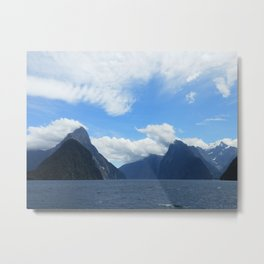 Mitre Peak, Milford Sound (New Zealand Collection) Metal Print