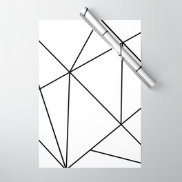 Geometric White Wrapping Paper