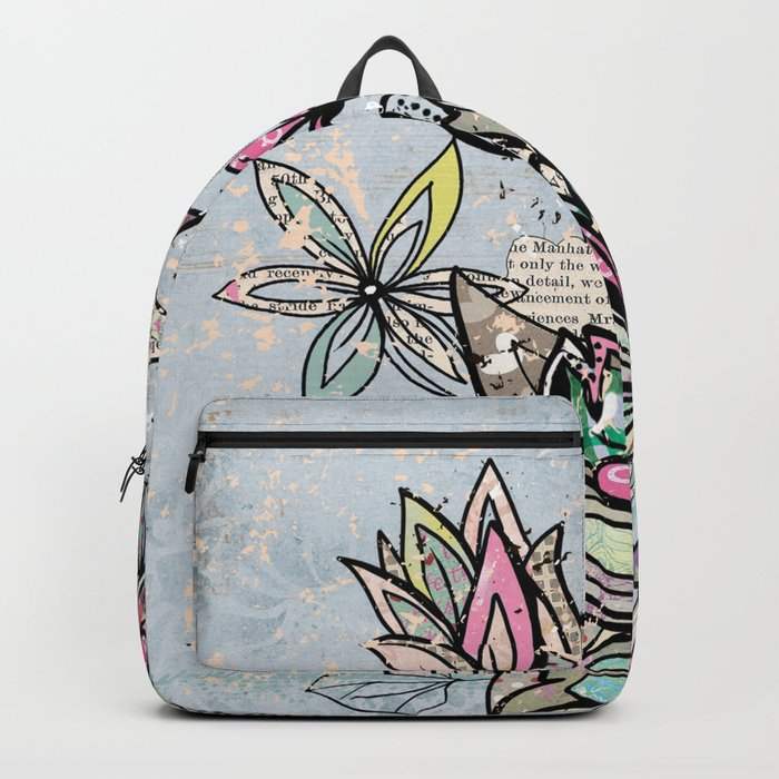 Paper Flowers #4 Backpack