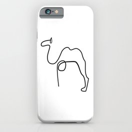 Camel Print Line Art Drawing inspired by Picasso iPhone Case