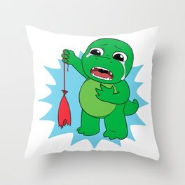 Little Dinosaur, Big Feelings (Pop) Throw Pillow