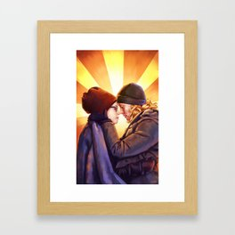 Cosima and Delphine Framed Art Print