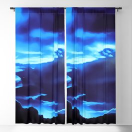 cloudy burning sky reacpth Blackout Curtain