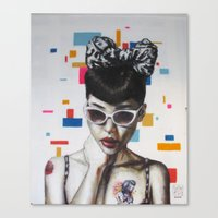 rockabilly Canvas Prints featuring Rockabilly by Sath