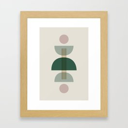 Emerald Abstract Half Moon 1 Framed Art Print