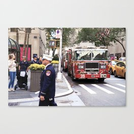 The Fire Dept of New York at 30 Rock Canvas Print