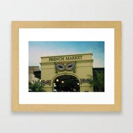 French Market Framed Art Print