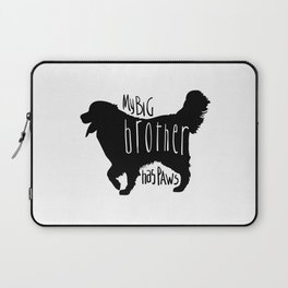 My big brother has paws Laptop Sleeve