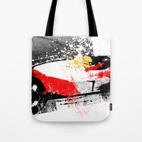 senna Tote Bags featuring AYRTON SENNA MP4-4 by Michele Leonello
