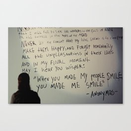 -anonymous- Canvas Print
