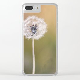 Lonely Dandelion Clear iPhone Case
