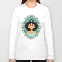 jasmine Long Sleeve T-shirts featuring Jasmine by Joey Ellson