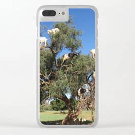 Goats in a tree Clear iPhone Case