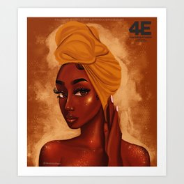 U R my african queen Art Print