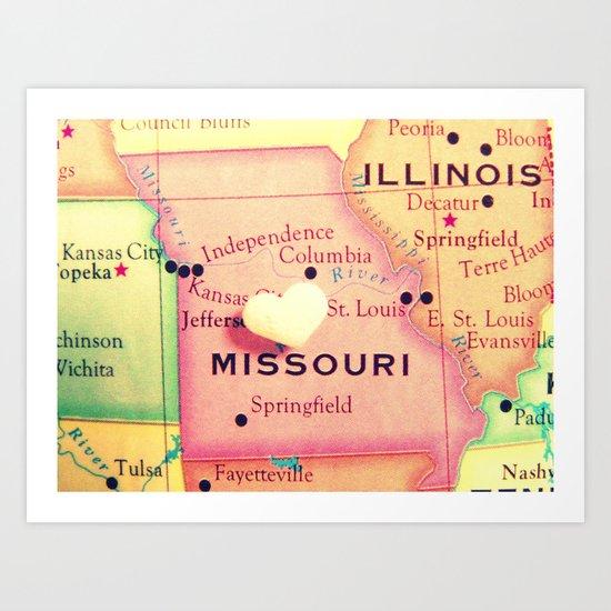 Missouri Art Print