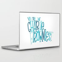 charlie brown Laptop & iPad Skins featuring Charlie Browniest by Chelsea Herrick