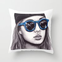 coachella Throw Pillows featuring Coachella  by Bella Harris