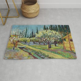 Orchard Bordered by Cypresses Rug