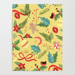Christmas Pattern 3 Poster