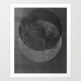 TWO MOON Art Print