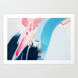 Even After All  #4 - Abstract on perspex by Jen Sievers Art Print