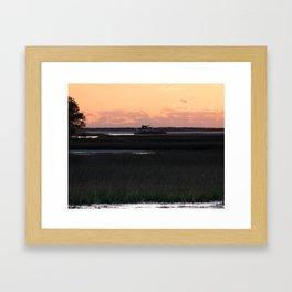 Early Morning Barge Framed Art Print