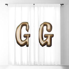 Chocolate Letter G Blackout Curtain