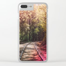 Great Adventures Ahead Clear iPhone Case