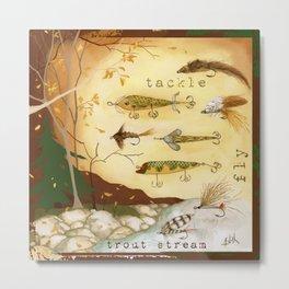 Fishing Tackle Metal Print