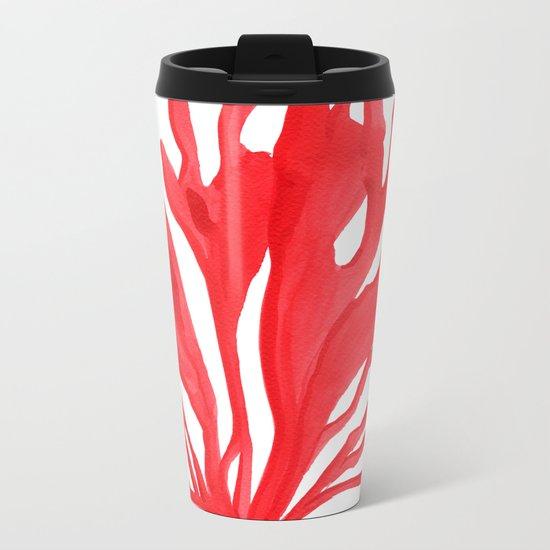 Red Coral no. 2 Metal Travel Mug