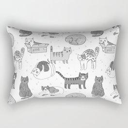 Cat pattern cute nursery cat lady kittens by andrea lauren Rectangular Pillow