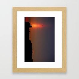 Sunset Torch Framed Art Print