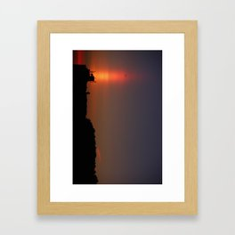 Sunset Torch Framed Art Print