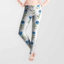 bluebutton wildflowers Leggings