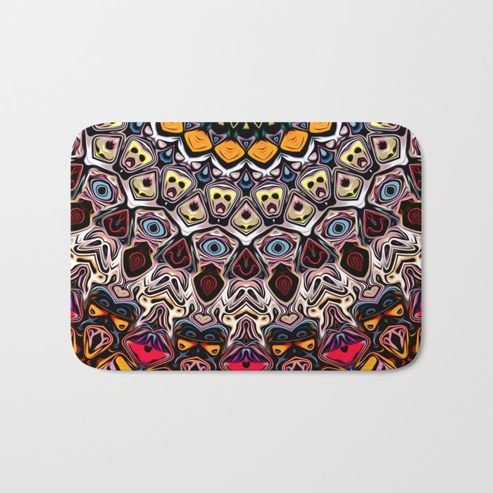 Colorful Balance of Shapes Bath Mat