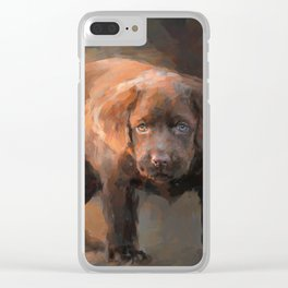 A Little Bit of Chocolate Lab Clear iPhone Case