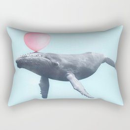 BUBBLEGUM WHALE Rectangular Pillow