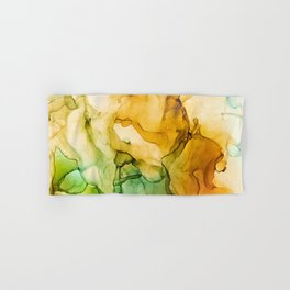 Turning Fall  - Abstract Ink Painting Hand & Bath Towel
