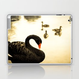 The Swan - Black is the new Golden Laptop & iPad Skin