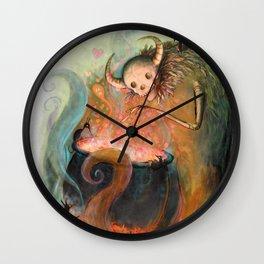 Love is a Dark Creature Wall Clock