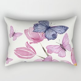 Flowers and butterflies Rectangular Pillow