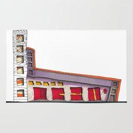 Geometric Architectural Design Illustration 99 Rug
