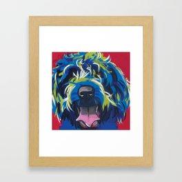 Wirehaired Griffon or Labradoodle Pop Art Pet Portrait Framed Art Print
