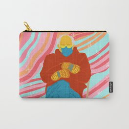Bernie Sanders in pink universe meme Carry-All Pouch